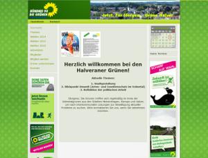 Screenshot: www.gruene-halver.de